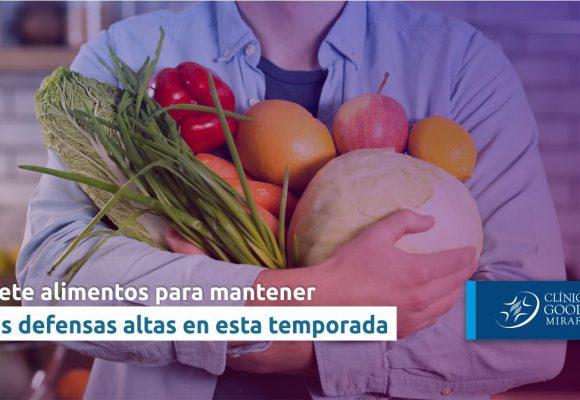 Siete alimentos recomendables para mantener las defensas altas en esta temporada