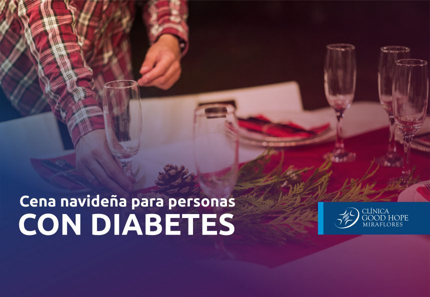 Cena navideña para personas con diabetes