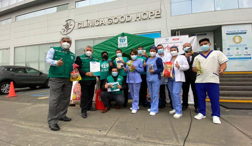 Clínica Good Hope dona 50 mil soles en alimentos a Adra Perú que ayudará a los más necesitados